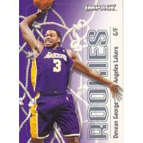 1999-00 Skybox Impact Rookies Devean George Lakers