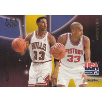 1996 Skybox Usa Duos Scottie Pippen Grant Hill