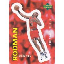 1997 Ud Choice Italian Sticker Dennis Rodman Bulls #201