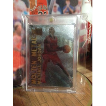 Michael Jordan Tarjeta Metal Molten Metal 96-97 Vv4