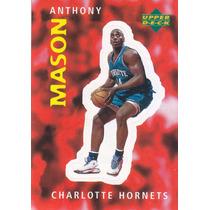 1997 Ud Choice Italian Sticker Anthony Mason Hornets #200