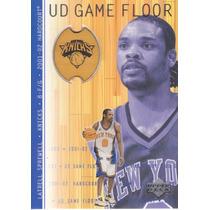 2001-02 Upper Deck Hardcourt Game Floor Latrell Sprewell