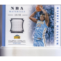 2013-14 National Treasures Jersey Kenneth Faried Nuggets /99
