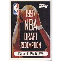 1997-98 Topps Draft Redemption Draft Pick 5 Tony Battie Denv
