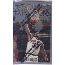 1996-97 Topps Finest Silver Foundations Patrick Ewing Knicks