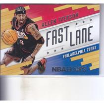 2014-15 Hoops Fast Lane Allen Iverson Sixers