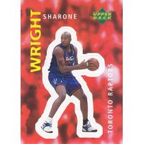 1997 Ud Choice Italian Sticker Sharone Wright Raptors #311