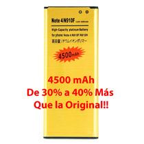 4500mah Bateria Galaxy Note 4 Larga Duracion De 30% A 40% +