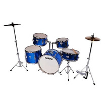 Bateria Acustica Maxima Junior Mj-50 Set Azul Metalico