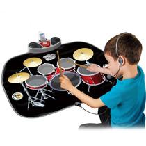 Bateria Musical Infantil Niños Alfombra Con Microfono