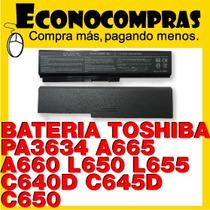 Bateria Toshiba Pa3634u A665 A660 L650 100% Nueva Original!!