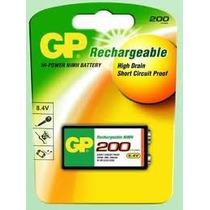 Bateria Pila Cuadrada Niquel Metal 9v Recargable Gp 200 Mah