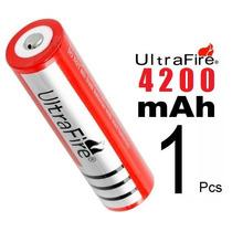 Bateria Pila 3.7v C/4200m Ah! Recargable 18650 Ultrafire Hm4