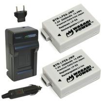 Kit Cargador 2 Baterias 2000mah Lpe8 P Camara Canon Dslr Mn4