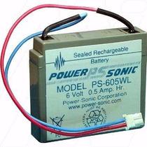 Pila Bateria Power Sonic 6 Volts 0.5 Amp Ps-605wl Bascula