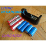 Pila Batería Lithio Recargable 18650, 14500, 16340 Cargador