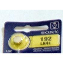 10 Pilas Lr41 O Ag3 Sony Alcalina Tipo Botón De 1.5v