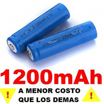 2 Baterias Pilas 14500 3.7v 1200 Mah + Por - Recargables Hm4