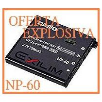 Bateria Recargable Np-60 P/camara Casio Exilim Zoom Ex-z9