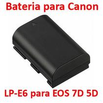 Bateria Para Canon Codificada Lp-e6 Lpe6 Eos 5d 60d Vbf