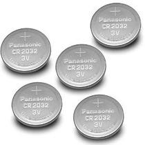 Paquete De 5 - Panasonic Cr2032 3v De Litio Batería Plana Dl