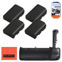Kit De 4 Baterías Grip Para Cámaras Canon Eos 6d 7d
