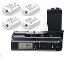 Kit 4 Baterías Cámara Canon Eso 550d 600d Temporizador Timer