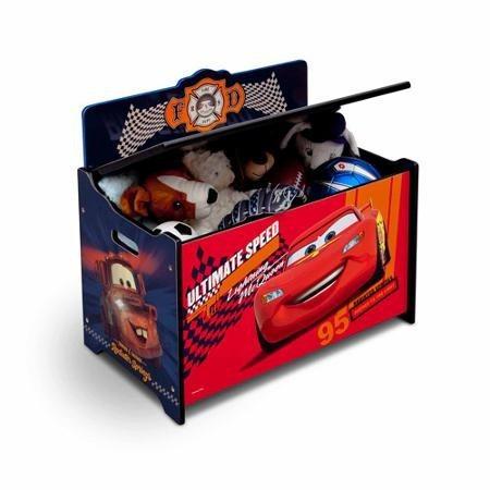 Ba l de juguetes deluxe cars 1 en mercadolibre - Baul juguetes ...
