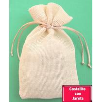 Paquete 50 Costalitos Yute O Guata Con Tarjeta Personalizada
