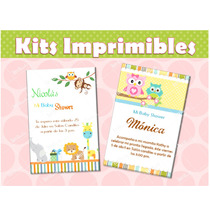 Invitaciones Baby Shower Kit Listo Para Imprimir!