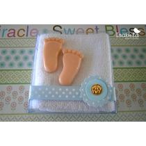 Recuerdos Economico Bautizo Baby Shower Piecitos Bebe Toalla