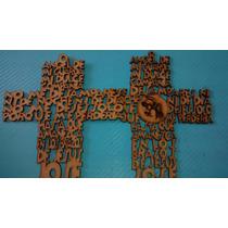 Cruz Oracion Angel De La Guarda 15.5 Cm Mdf