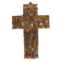 Cruz De Mdf 3mm Madera 15cm Oración Padre Nuestro Art6