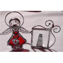 Recuerditos Angelitos De Vitral Porta Retrato Infantil 7cm