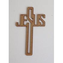 Oraciones En Cruz, Cruces De Mdf De Jesus 20 Cm