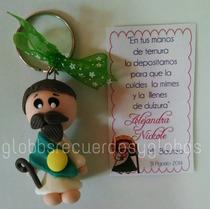 Recuerdo Llaveros Angelito Virgencita Santitos Pasta Flexib