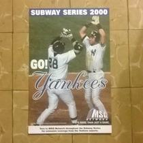 Cartel Serie Mundial Subway Series 2000 Original