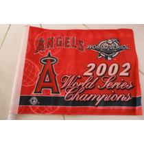 Bandera Anaheim Angels Baseball World Series 2002 Champions