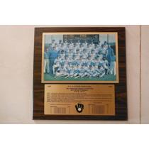 Placa Madera Mlb Baseball Milwaukee Brewers 1982 Champions