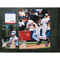 Foto Autografiada Por Chipper Jones Coa Psa Atlanta Braves