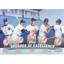 2000 Topps Jeter Berra Ford Mattingly Jackson Yankees
