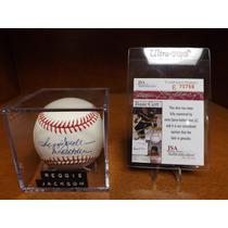 Reggie Jackson Autografo Ny Yankees Certificado Jsa
