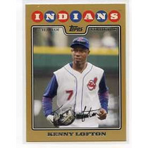 2008 Topps Gold Border #93 Kenny Lofton Indios De Cleveland