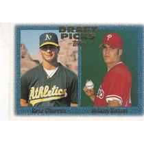 1997 Topps Draft Picks Rookies Eric Chavez Adam Eaton
