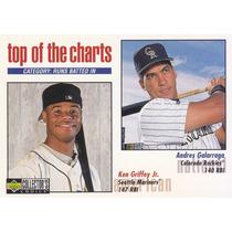 1998 Choice Top Charts Ken Griffey Jr Andres Galarraga