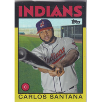 2014 Topps Gold Carlos Santana Indians /199