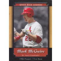 2001 Upper Deck Legends Mark Mcgwire 1b Cardinals