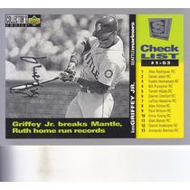1994 Choice Se Checklist Silver Script Ken Griffey Jr. Marin