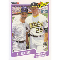 1990 Fleer All Stars Don Mattingly Mark Mcgwire