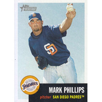 2002 Topps Her Rookie Mark Phillips P Padres